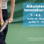 Tenniskurssi 7. - 8.3.